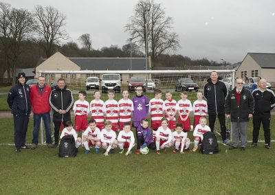 Lesmahagow Community FC first ever home game 11 March