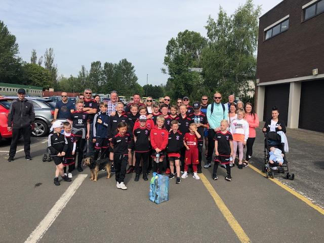 Fundraising sponsored walk